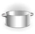 Empty metal pot Royalty Free Stock Photography
