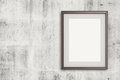 Empty modern style frame on grunge wall as concept Royalty Free Stock Photography