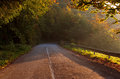 Empty mountain asphalt road. Beautiful autumn scene. Royalty Free Stock Photo