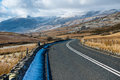 Empty mountain road snowdonia wales Royalty Free Stock Photo