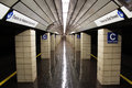 Empty New York Subway Station Royalty Free Stock Images