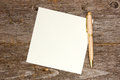 Empty note paper with pen Royalty Free Stock Photography