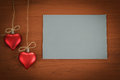 Empty note for valentine message Stock Photography