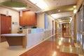 Empty Nurses Station And Corridor In Modern Hospital Royalty Free Stock Photo
