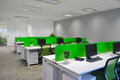 Empty office bright room with modern decoration Royalty Free Stock Photography