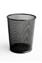 Empty office trash can white Royalty Free Stock Images
