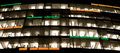 Empty offices at night Royalty Free Stock Photo