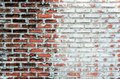 Empty old brick wall texture background with copy space. Peeling plaster texture. Vintage brick wall background. Abstract for web Royalty Free Stock Photo