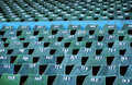 Empty old stadium seats Stock Images
