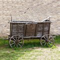 Empty and old wooden cart Royalty Free Stock Photo