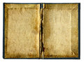 Empty pages of old book isolated vintage folder on the white background Royalty Free Stock Photo