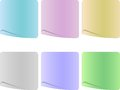 Empty paper set the sheet in pastel colors Royalty Free Stock Photography