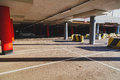 Empty parking lot area at the mall Royalty Free Stock Photography