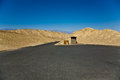 Empty parking place in death valley national park at the artists drive Stock Images