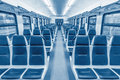 Empty passenger carriage Royalty Free Stock Photo