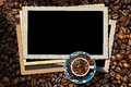 Empty Photo Frames for a Coffee House Royalty Free Stock Photo