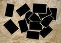 Empty photo frames, Royalty Free Stock Photo
