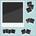 Empty photo polaroid vector illustration eps set Royalty Free Stock Photo
