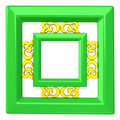Empty picture frame 3d Stock Photos