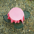 Empty Pink Table Royalty Free Stock Photos