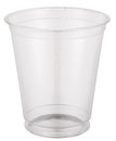 Empty plastic cup. Royalty Free Stock Photo