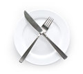 Empty plate Royalty Free Stock Image