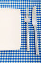 Empty plate with utensils Royalty Free Stock Photo