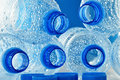 Empty polycarbonate plastic bottles of mineral Royalty Free Stock Photo
