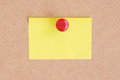 Empty postit on cork board Royalty Free Stock Photo