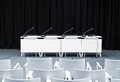 Empty press conference room Royalty Free Stock Photo