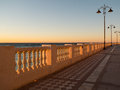 Empty promenade malaga beach spain Royalty Free Stock Images
