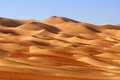 Empty quarter landscape a dune in the rub al khali or straddling oman saudi arabia the uae and yemen this is the largest sand Stock Images