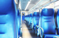 Empty railway carriage. Filter. Royalty Free Stock Photo