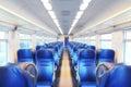 Empty railway carriage. Royalty Free Stock Photo