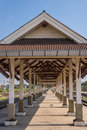 Empty railway station in thailand Stock Image