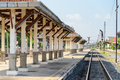 Empty railway station in thailand Royalty Free Stock Image