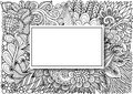 Empty rectangle frames with shadow on hand drawn floral background for cards,invitation and so on. Vector illustration