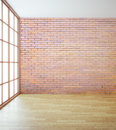 Empty red brick wall Royalty Free Stock Photo