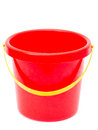 Empty red bucket Royalty Free Stock Photo