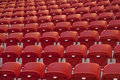 Empty red seats Stock Photography
