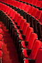 Empty red seats Royalty Free Stock Images
