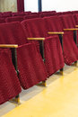 Empty red seats for cinema theater or conference concert Stock Image