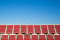 Empty red seats in a spanish football stadium Royalty Free Stock Photo