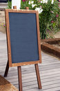 Empty restaurant chalkboard Stock Photo