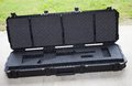 Empty rifle case with foam that is formed for an ar Stock Images