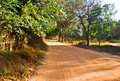 The empty road in Auroville, India Royalty Free Stock Image