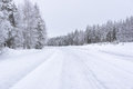Empty road in Finland Royalty Free Stock Photo