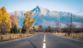 Empty road and hill Krivan