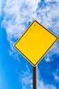 Empty Road Sign Against Blue Sky With Copy Space Royalty Free Stock Photo