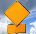 Empty road sign for your message Stock Photography